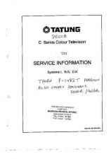 Buy THORN D20TDE5 COLOUR TV SERVICE (A738) by download #109761