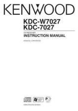 Buy Kenwood KDC-W7031 Operating Guide by download Mauritron #219094