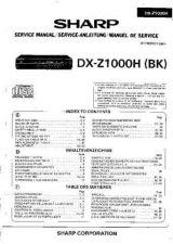 Buy Sharp DXZ1000H -DE-FR Service Manual by download Mauritron #208818