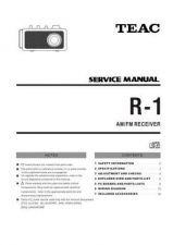 Buy Teac R-1 Service Manual by download Mauritron #223867