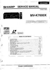 Buy Sharp MVK7600X (1) Service Manual by download Mauritron #209114