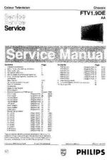 Buy PHILIPS 42PF9952-12S FTV19DE SERVICE Manual by download Mauritron #230332