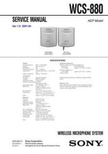 Buy Sony WCS-990 Service Manual. by download Mauritron #245603