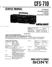 Buy Sony CFS-720 Service Manual by download Mauritron #238925