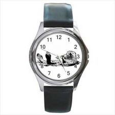 Buy Otter Swimming On Back Unisex Art Wrist Watch NEW