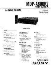 Buy Sony MDP-A800K2 Manual by download Mauritron #229622