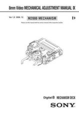 Buy Sony 8mm Video MECHANICAL ADJUSTMENT MANUAL IX Service Manual by download Mauri