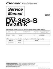 Buy Pioneer DV-363-K-3 Service Manual by download Mauritron #234199