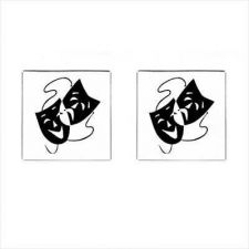 Buy Comedy Tragedy Theater Masks New Square Cufflinks