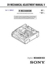 Buy Sony DV MECHANICAL ADJUSTMENT MANUAL V Service Manual by download Mauritron #24