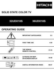 Buy Hitachi 32UDX10S Service Manual by download Mauritron #224037