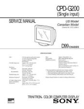 Buy Sony CPD-E540 Service Manual by download Mauritron #239303