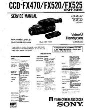 Buy Sony CCD-FX525 Service Manual by download Mauritron #237073
