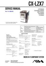 Buy Sony CX-LZX7 Service Manual by download Mauritron #231819