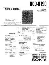 Buy Sony HCD-H190 Manual by download Mauritron #229185