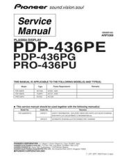 Buy Pioneer PDP-436PC-WAXQ5[2] (2) Service Manual by download Mauritron #235048