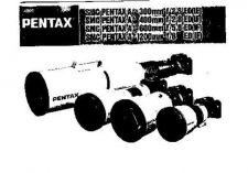 Buy PENTAX A 300MM 400MM 600MM 1200 MM CAMERA INSTRUCTIONS by download #119003