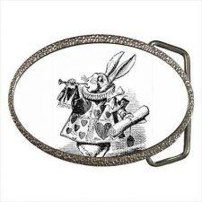 Buy White Rabbit Herald Alice In Wonderland Belt Buckle
