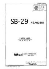 Buy NIKON SB-29 Parts List by download Mauritron #266216