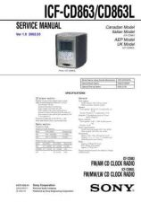 Buy Sony ICF-CD863CD863L. Service Manual. by download Mauritron #241602