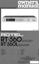 Buy ROTEL RT560 Manual by download Mauritron #230403