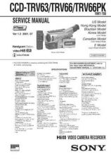 Buy Sony CCD-TRV63TRV66TRV66PK by download Mauritron #229034