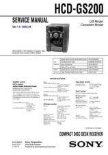Buy Sony HCD-GS100 Service Manual by download Mauritron #241046