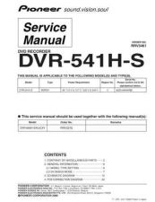 Buy Pioneer DVR-640H-S Service Manual by download Mauritron #234522
