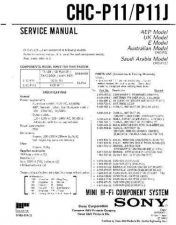 Buy Sony CHC-P11J Service Manual by download Mauritron #239056