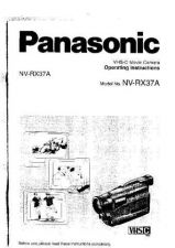 Buy Panasonic NVRX37 Operating Instruction Book by download Mauritron #236274