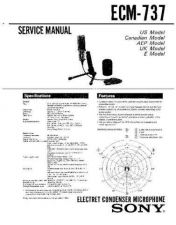 Buy Sony ECM-737 Service Manual by download Mauritron #240571