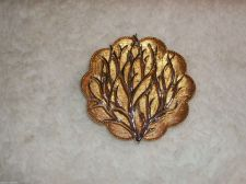 Buy Vintage Coro Tree/Leaf/shell Brooch/pin Silver,Gold Toned unique/christmas/ocean