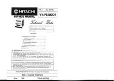 Buy Hitachi VYPE5000 Service Manual by download Mauritron #265692