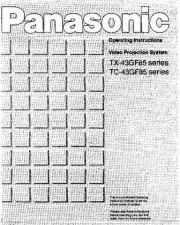 Buy Panasonic TX43GF85 Operating Instruction Book by download Mauritron #236615