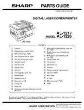 Buy Sharp AL-1226 Parts Guide by download Mauritron #232624
