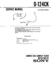 Buy Sony D-122CK Manual-1663 by download Mauritron #228473