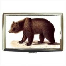 Buy Grizzly Bear Art Cigarette Money Credit Business Card Case Wallet