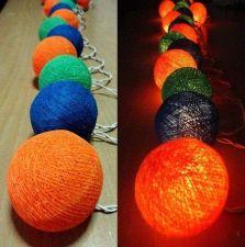 Buy MIXED THREE COLORS 20 COTTON BALLS STRING LIGHTS WEDDING PARTY HOME GARDEN DÉCOR