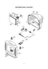 Buy LG GOLDSTAR CF20D70K 087Y RPL Service Information by download #112767