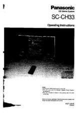 Buy Panasonic SCCH33 Operating Instruction Book by download Mauritron #236422