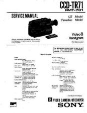 Buy Sony CCD-TR71 Manual by download Mauritron #229011