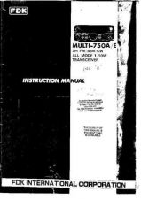 Buy FDK 750E SERVICE MANU by download #108185