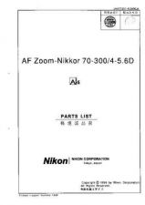 Buy NIKON Nikkor 70-300mm Parts List by download Mauritron #266132