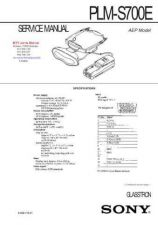 Buy SONY PLMS700E Technical Info by download #104826