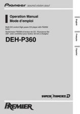 Buy Pioneer 50622950 Operation MANUAL DEH-P360 by download Mauritron #223580