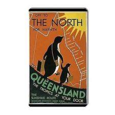 Buy Queensland Australia Travel Tourism Art Vinyl Magnet