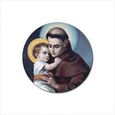 Buy St Anthony Patron Saint Set Of 4 Round Rubber Drink Coasters