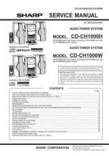 Buy Sharp CDCH1000-H-W-1500-RW5000H-MD3000H-BA3100 SM REVISED GB Service Manual by