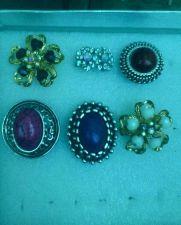 Buy 6 Beautiful Fashion Rings Assortment (New) Adjustable SIZE