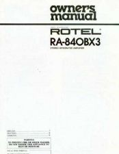 Buy ROTEL RA840BX3 Manual by download Mauritron #230365